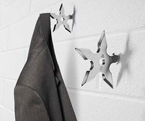 ninja-star-coat-hanger